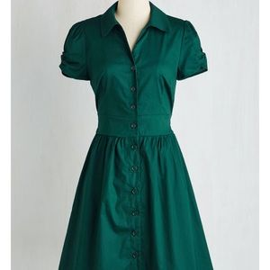 ModCloth green collared dress